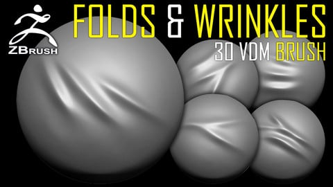 30 Folds & Wrinkles VDM Brush for ZBrush