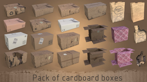 Pack of cardboard box
