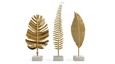 decoration set  Golden leaves