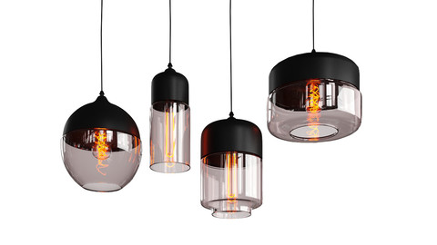glass pendant light modern