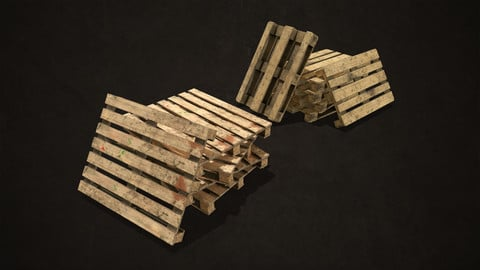 Wooden Pallets - Low Poly