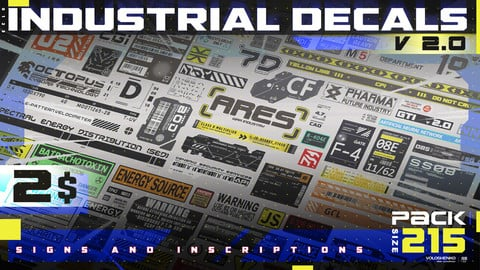 INDUSTRIAL DECALS KITBASH v 2.0_ 215+