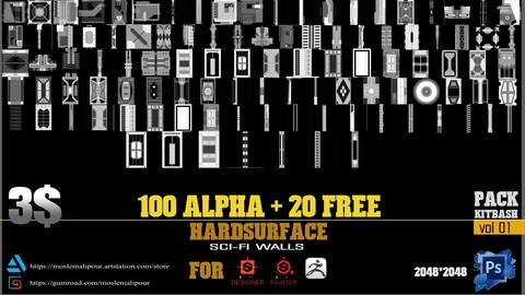 100+20 free OPTIMIZED SCI FI ALPHA MAPS