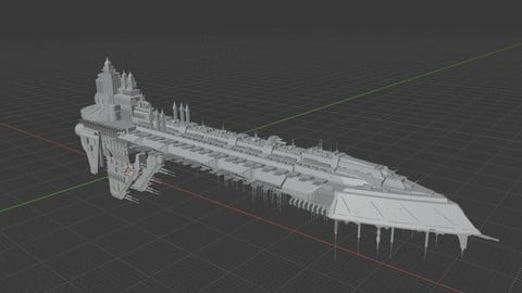 Space Hulk Ship  for 3D printing