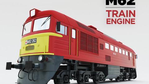 Diesel locomotive m62 3D model