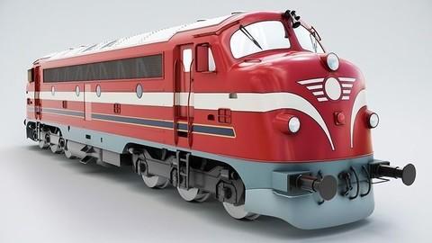 NoHAB M61 Locomotive Train Engine 3D model