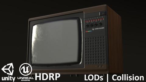 Retro Soviet TV Elektron Brown