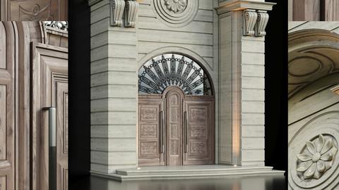 Luxury Entrance Portal (Facade and Door)
