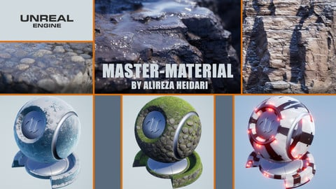 UE4 MasterMaterial (For Small & Large Props)