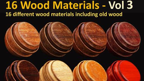 16 Wood Materials - Vol 3