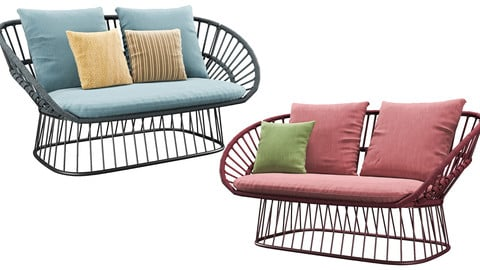 Cala 2 Seater Garden sofa By Kettal