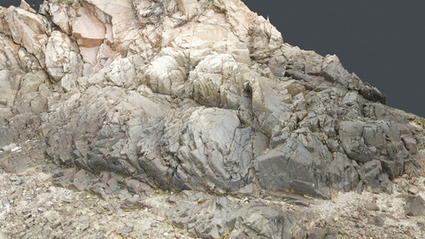 Photoscan_Beach Rock_0016_only HighPoly Mesh (16K Texture)