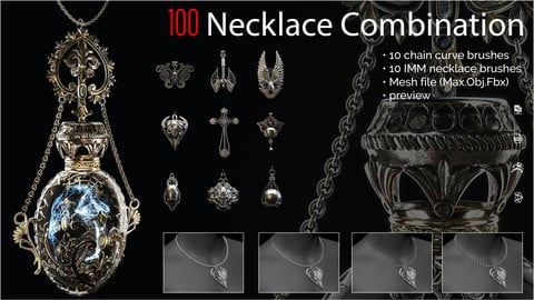 100 necklace combination brush