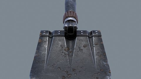 German sapper shovel WW2 3d model