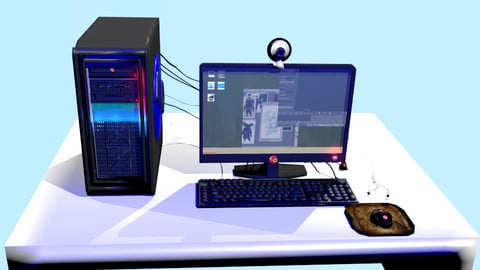 Computer rigged and animated Low-poly 3D model
