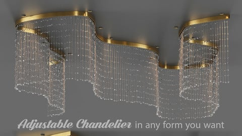 Adjustable Crystal String Chandelier
