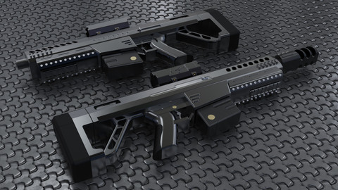 AR rifle model.
