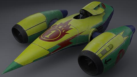 Sci-fi racing car