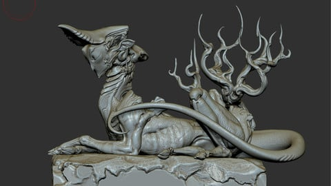 ZBrush marble cavity material