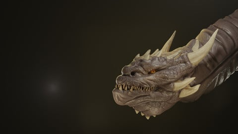 Dragon Head Bust