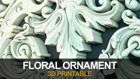 Floral Ornament (3dPrintable)_03