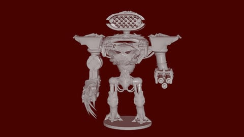 Chaos Titan Warhammer 40k inspired 3D mecha
