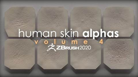 Human Skin Alphas vol. 4 + Render Scene
