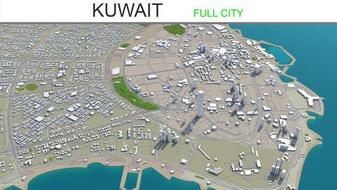 Kuwait City 3D Model 220 km