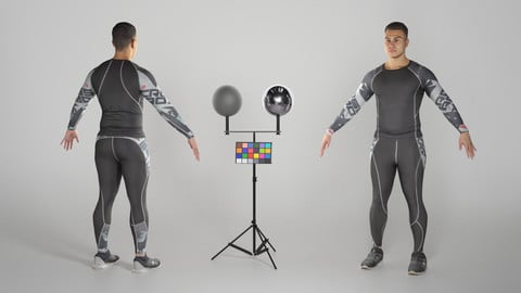 Handsome man in crossfit uniform ready for animation 187