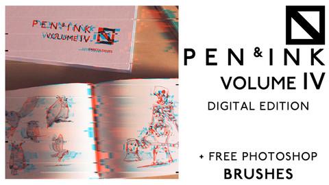 Pen & Ink Volume 4 - Digital Edition + Free Photoshop Brushes
