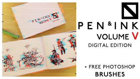 Pen & Ink Volume 5 - Digital Edition + Free Photoshop Brushes