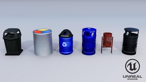 Trash Recycling Bins