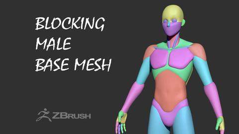 Blocking  Male Base Mesh