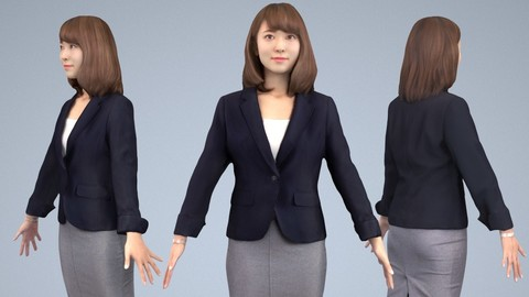 Animated 3D-people 014_Kana
