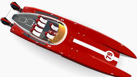 Mystic Powerboat C3800 RED