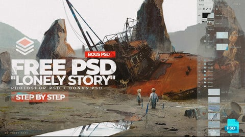 "Free PSD ""Lonely Story"" + Bonus"