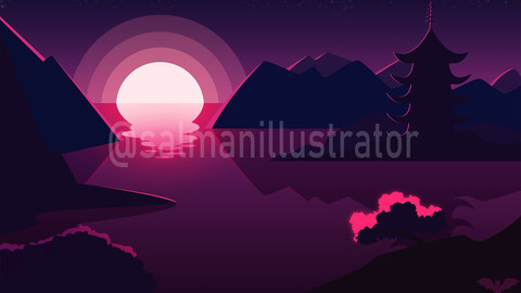 Landscape art and illustration
