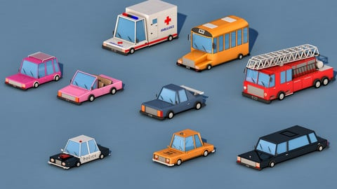 Cartoon City Cars
