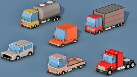 Cartoon Transport Cars