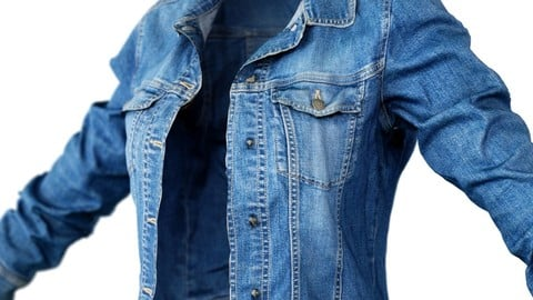 Vintage Jacket Dark Blue Jeans