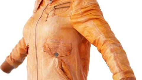 Vintage Jacket Light Brown Leather
