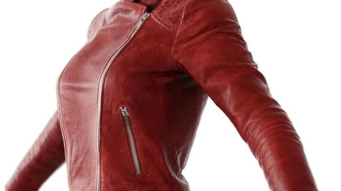 Vintage Jacket Red Matte Leather