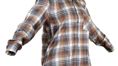 Vintage Shirt Brown Squares