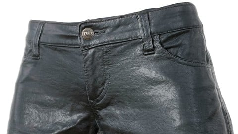 Vintage Shorts Black Leather