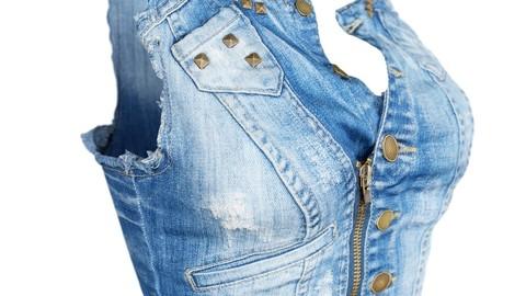Vintage Top Jeans Studs
