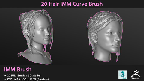 20 Hair IMM Curve Brush