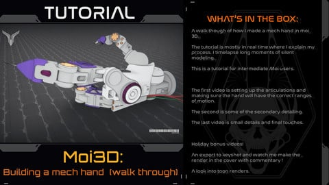 Building a mech hand in Moi3D (walk through)