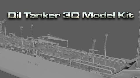 Oil Tanker - 3D Model Kit