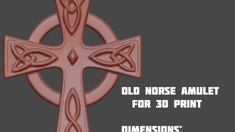 Old norse amulet (3d print)