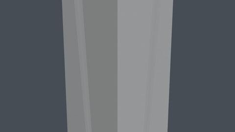 Futuristic Artistic Decorative Pillar